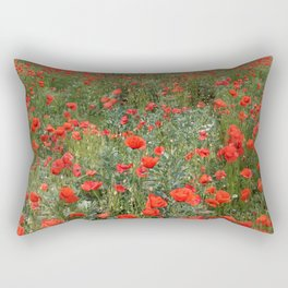 A stroll of poppies Rectangular Pillow