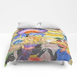 African ladies going t0 the merket (Often I dream about Africa, part4 ) Comforters