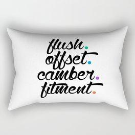 flush offset camber fitment v5 HQvector Rectangular Pillow