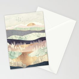 Golden Spring Reflection Stationery Cards