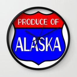 Produce Of Alaska Wall Clock