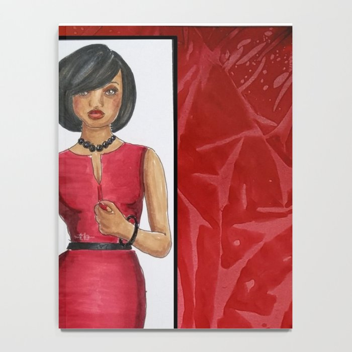 The Woman In Red Notebook