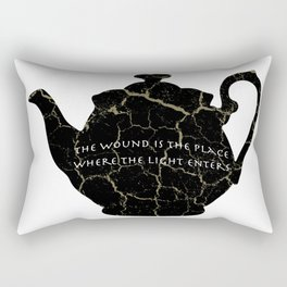 The Wound Is The Place Where The Light Enters You - Rumi Quote Rectangular Pillow