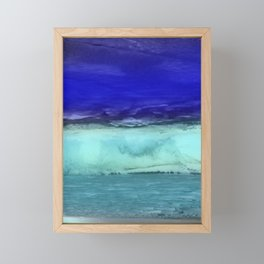 Midnight Waves Seascape Framed Mini Art Print