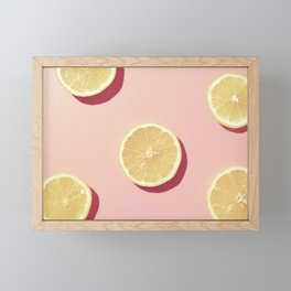 #01_Lemons in pink Framed Mini Art Print