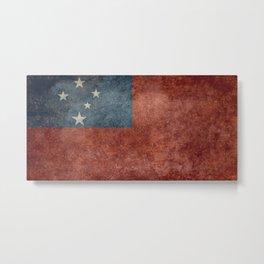 Samoan national flag - Vintage retro version to scale Metal Print