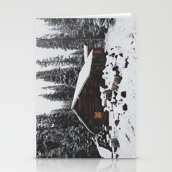 Winter Cabin Stationery Cards