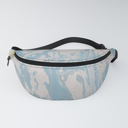 Chandelier Light Blue Pastel Fluid Acrylic Abstract Painting Fanny Pack