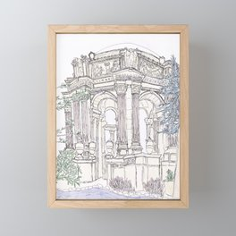 Pen + Ink SF Palace of Fine Arts Framed Mini Art Print