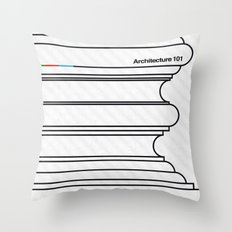 Architecture 101 Throw Pillow