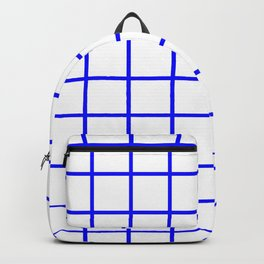 GRID DESIGN (BLUE-WHITE) Backpack