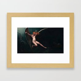 A Fairy Under Starry Skies by Luis Ricardo Falero Framed Art Print