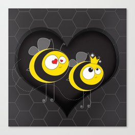 love the worker bee Canvas Print