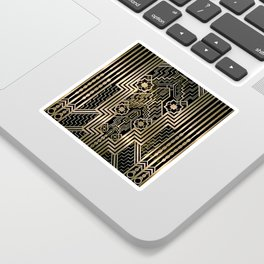 Art Nouveau Metallic design Sticker