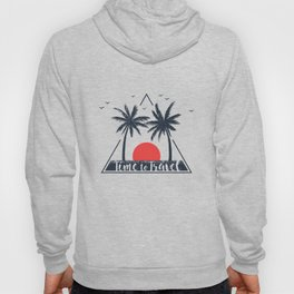 Time To Travel. Sunset. Palms. Geometric Style Hoody