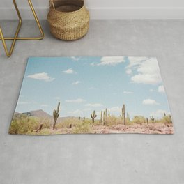 Saguaros in the Desert Rug