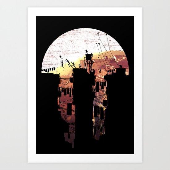 Kite Parkour Art Print