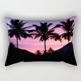 Sunset Palm Trees Rectangular Pillow