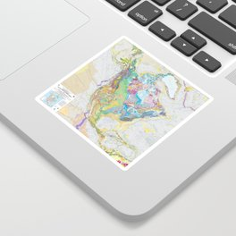 USGS Geological Map of North America Sticker