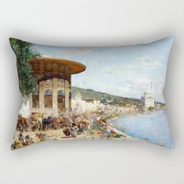 Alberto Pasini Market Day in Constantinople Rectangular Pillow