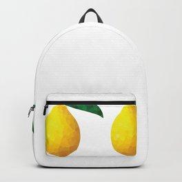 lemon 1x3 pattern, fill, repeating, tiled | elegant Backpack