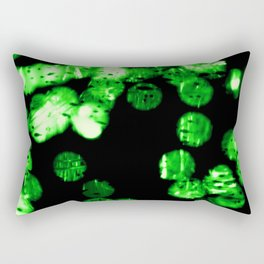 green bokeh Rectangular Pillow