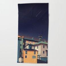 Castles at Night Beach Towel