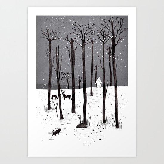 Mister Yeti's Great Escape Art Print