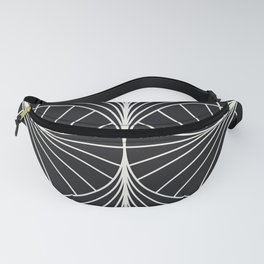 Diamond Series Inter Wave White on Charcoal Fanny Pack
