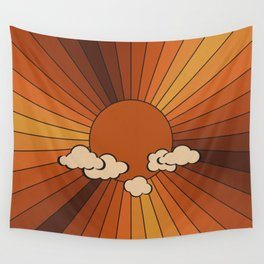 Retro Sunshine Wall Tapestry