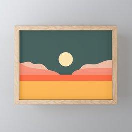 Geometric Landscape 14 Framed Mini Art Print