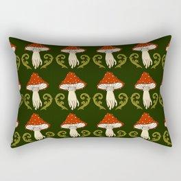 Victorian Mushroom Hand Rectangular Pillow