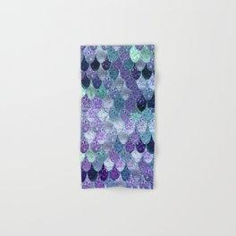 SUMMER MERMAID  Purple & Mint by Monika Strigel Hand & Bath Towel