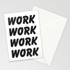 Work Work Work Work Stationery Cards