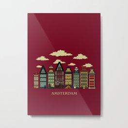 Amsterdam red Metal Print