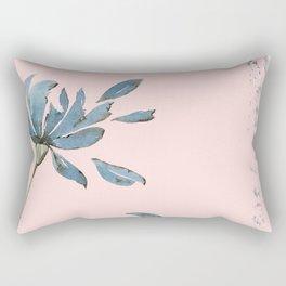 Blue Decay Flower Rectangular Pillow