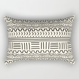 Mud Cloth on Cream Rectangular Pillow
