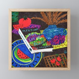 MFK Fisher Still Life with Fruit Framed Mini Art Print