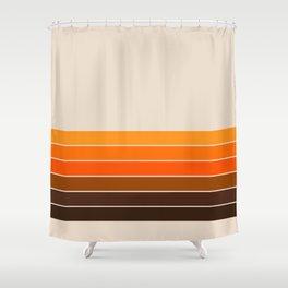 Golden Spring Stripes Shower Curtain
