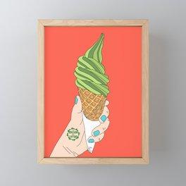 Matcha Ice Cream! Framed Mini Art Print