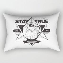 Stay True Skull #1 Rectangular Pillow