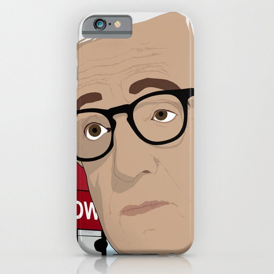 Woody Allen Cartoon iPhone & iPod Case