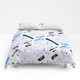 Watercolor Pattern Play in Amethyst Comforters