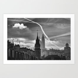 a view from the window, Paris Art Print