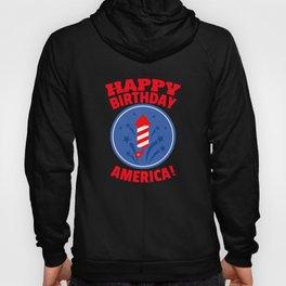 Happy Birthday America with Fireworks Hoody