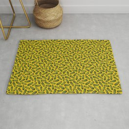 A Plethora Of Pickles - Green & Yellow Gherkin Pattern Rug