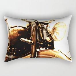 Motorcycle-Sepia Rectangular Pillow