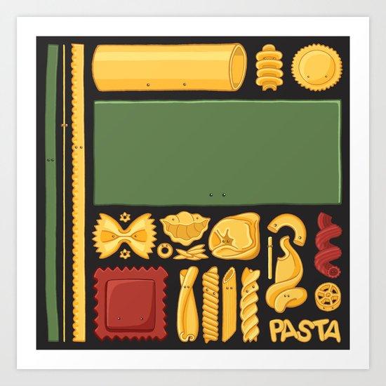 Pasta Mondrian Art Print