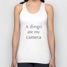 A Dingo Ate My Camera Unisex Tank Top