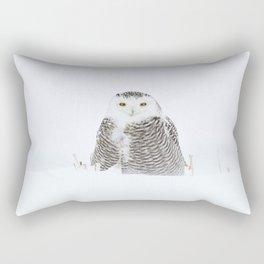 White on white Rectangular Pillow
